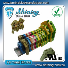 TF-35 Euro Type 600V 110A Collier à vis 35mm Din Cable Connector