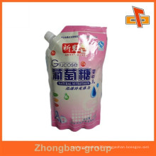Spout top food packaging bag sealable plastic food pouch