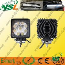 Lampe de travail à LED 9PCS * 3W, lampe de travail à LED Epstar 27W, lampe de travail à LED Spot/Flood pour camions.