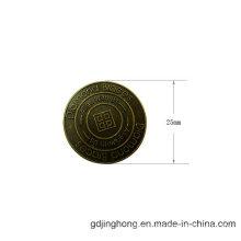 25mm Brass Plated Antique Zinc Alloy Garment Bag Label
