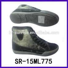 Мода мальчиков стильные случайные ботинки человек платье обуви высокой шею повседневная обувь