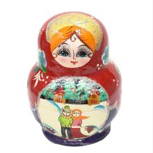 boneca 3d matryoshka tradicional das bonecas da cara para jogos das crianças