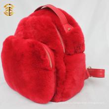 Рюкзак из меховой кожи из кролика