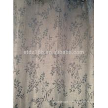 Nouvelle arrivée petite feuille 100% Polyester Linge Comme tissu jacquard rideau