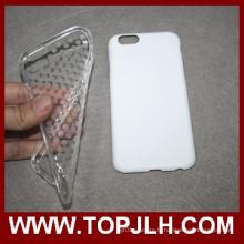 3D PC + Sublimation blanc téléphone TPU pour iPhone 6/6 s