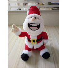 Atacado Natal Repetir Falando Papai Noel Soft Toy