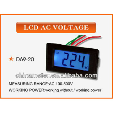D69-20 LCD AC Voltage Panel Meter