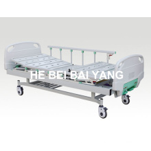 (A-70) --Movable Double-Function Manual Hospital Bed with ABS Bed Head