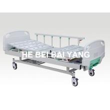 (A-70) - Мощная двухфункциональная ручная больничная койка с головкой из ABS-кровати