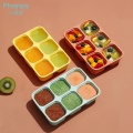Silicone Assisted Food Storage Box With Lid Holes