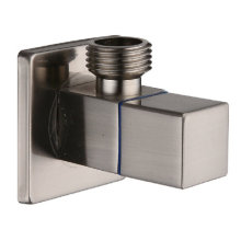 Brushed Square Brass Bathroom Accessory Angle Valve