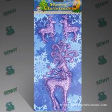 Decorações de Natal de fantasia de plástico claro renas
