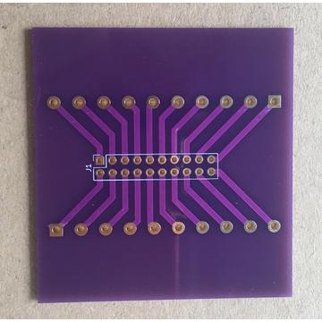 urgent 2 layer purple solder ENIG PCB