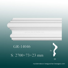Eco-friendly White Polyurethane Trim Moulding for Inside Wall Decoration