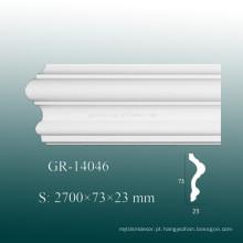 Eco-friendly branco poliuretano aparar moldagem para decoração interior da parede