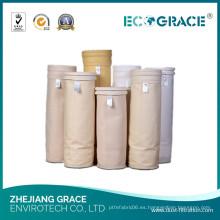 Calcetín de tela de acrílico de homopolímero de filtro de polvo negro de carbón