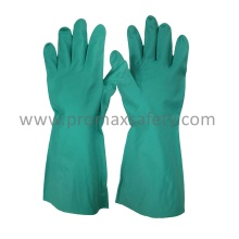 13mil Unlined Green Nitrile Work Gloves with Ce Certificate