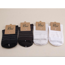 100% cotton women adult crew socks Lady sock