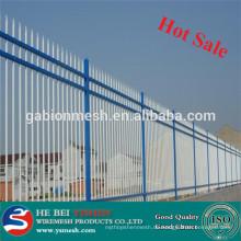 Zink Stahl Zaun / schwarz Stahl Zaun Pfosten Hersteller