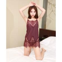 New Style High Quality Lace Babydoll Lingerie Sheer Mesh Nightwear Soft Cozy Sleepwear