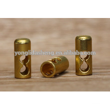 Gold metal stopper end for handbag accessories