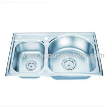 33 X 22 Inches Overall Topmount Kitchen Sink