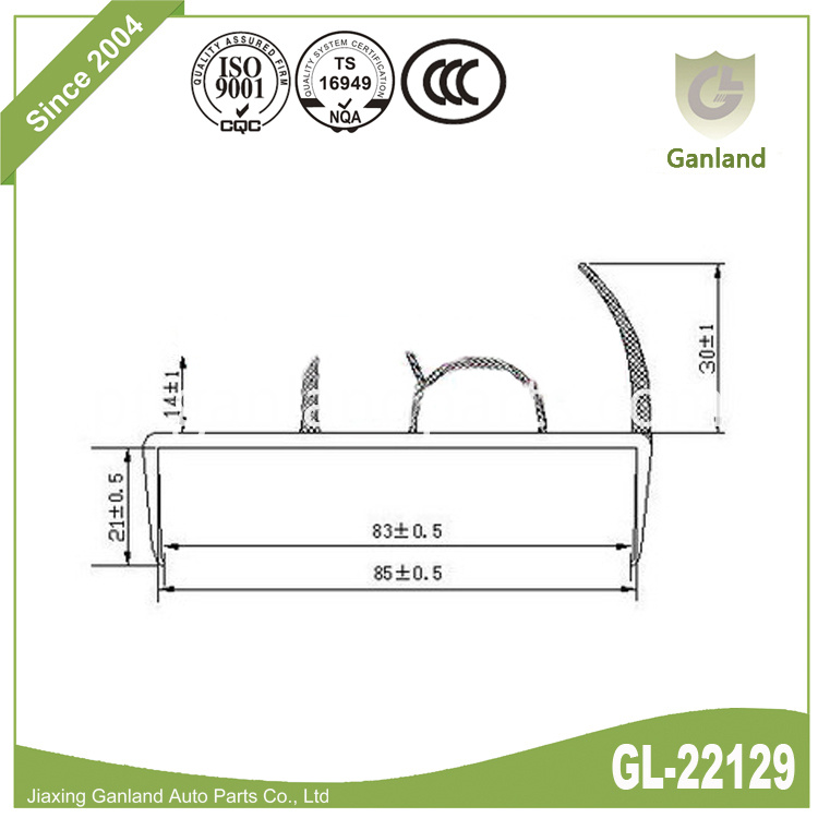 Seal Rubber Strip GL-22129