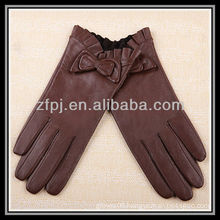 fashion lady wearing glove manufacture and tan Leather Gloves