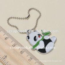 panda charms with ball chain metal keychain