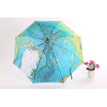 Earth Printing Straight Umbrella (BD-25)