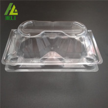 chicken egg trays in clear plastic material