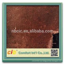Tela suave estupenda de la piel de la falsificación del alto peso / tela artificial de la piel para la ropa / la cubierta del asiento / del zapato