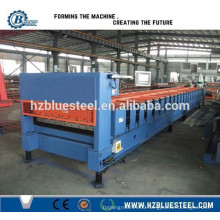 Trapezoidal Corrugated Sheet Roofing Tile Roll Forming Machine / Steel Roofing Roll Forming Machine