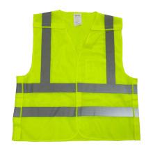Fluorescent yellow Mesh 5 point breakaway reflective vest