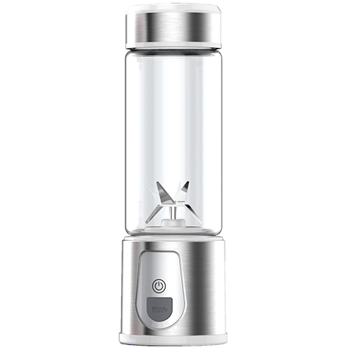 Glass jar USB plug LED display rechargeable blender