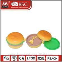 New! Lovely Hamburger plastic kids lunch box
