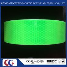 Cinta reflectante de seguridad de PVC verde fluorescente / Material