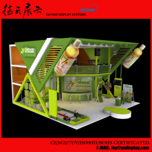 9x9 High Quality Green China Food Fruit Juice Exhibition Booth Design