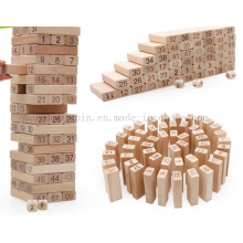 Children Kids Wooden Puzzle Building Block Toy with Number Mark