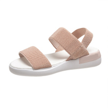Superstarer Roman Sport Sandal Student Shoe Elastic Strap Ladies Knitting Fabric Beach Sandal