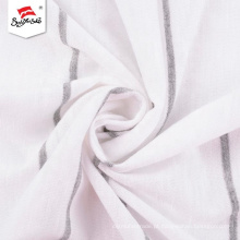 Tela de estiramento durável de rayon branco com sensação suave à mão