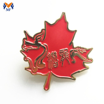 Custom Enamel Soft Red Maple Leaf Pin Badge