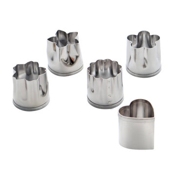 Stainless Steel Mini Vegetable & Fruit Cookie Cutter