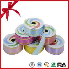 Rouleaux de ruban cadeau en plastique coloré Maunfacture