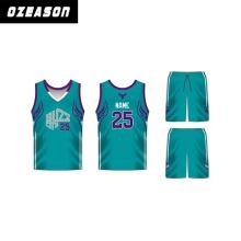 Factory China Sportswear Customized Design Green and Black Basketball Jerseys