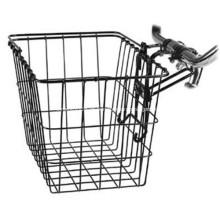 Cesta de bicicleta de malha metálica