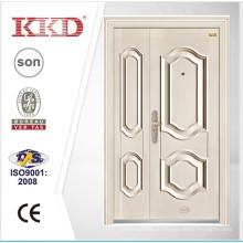 Новый дизайн белого безопасности двойная дверь KKD-201 b
