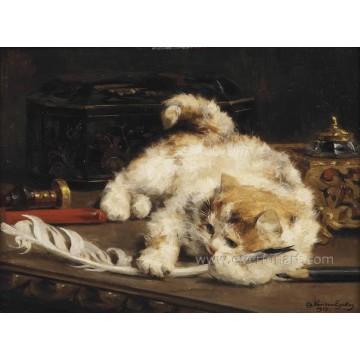 Huile sur toile Peinture à l'huile d'animaux Peinture à la coquetterie Peintures murales pour salle de séjour (EAN-227)