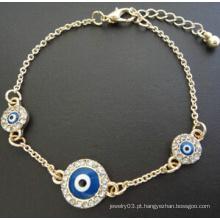Bracelete de diamantes cheio de olhos maus (xbl13498)