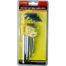 9PCS CRV Steel Wrench Ball Ends Hex Key Allen Key Set